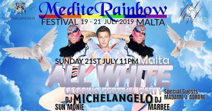 All White Closing Festival à San Ġiljan le dim. 21 juillet 2019 de 22h00 à 04h00 (Clubbing Gay)