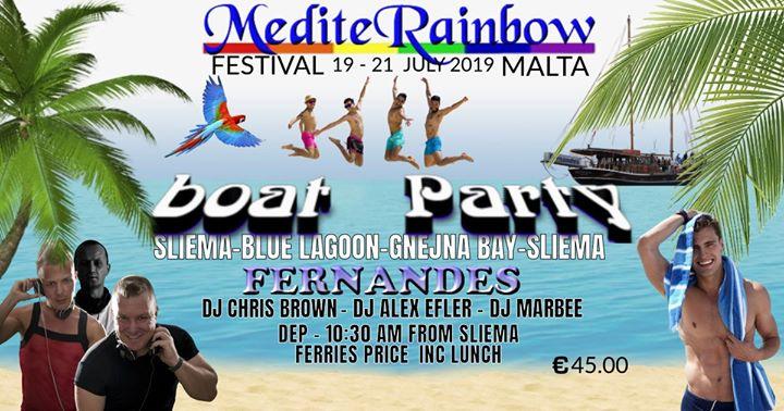 MediteRainbow boat party à Sliema le dim. 21 juillet 2019 de 10h30 à 18h00 (Croisière Gay)