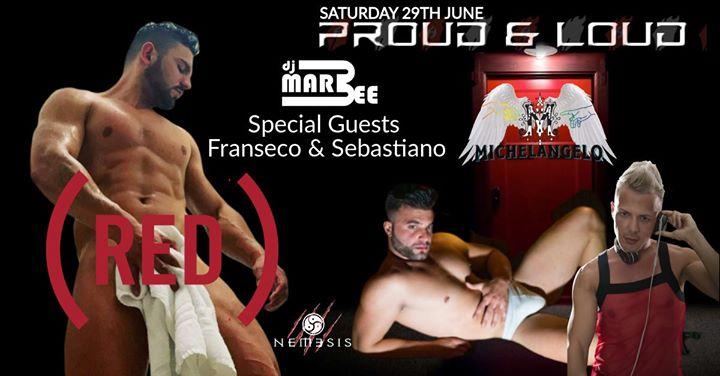 Proud & Loud (red) à San Ġiljan le sam. 29 juin 2019 de 22h00 à 04h00 (Clubbing Gay)