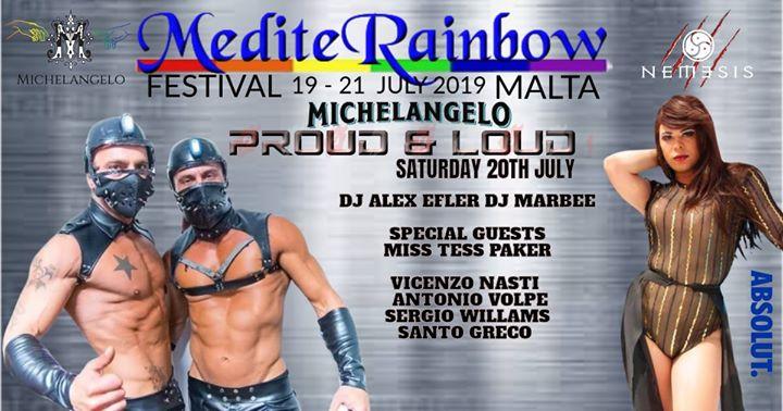 Proud & loud xxx à San Ġiljan le sam. 20 juillet 2019 de 22h00 à 01h00 (Clubbing Gay)