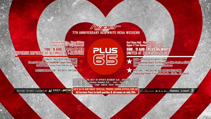 Plus65 White: United at Zouk & Phuture | 11Aug.Sun a Singapore le dom 11 agosto 2019 22:00-04:00 (Clubbing Gay)