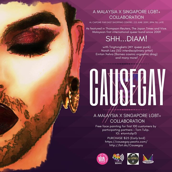 Causegay in Singapour le Sat, June 22, 2019 from 08:00 pm to 11:59 pm (Show Gay, Lesbian, Trans, Bi)