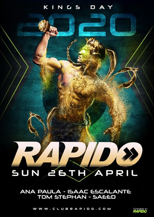 Rapido - the KING edition - Postponed a Amsterdam le dom 26 aprile 2020 15:00-02:00 (Clubbing Gay)