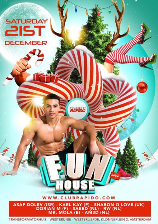FunHouse XL – the X-MAS edition in Amsterdam le Sat, December 21, 2019 from 10:00 pm to 09:00 am (Clubbing Gay)