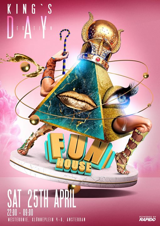 FunHouse - Kings & Queens edition - Postponed in Amsterdam le Sat, April 25, 2020 from 10:00 pm to 09:00 am (Clubbing Gay)