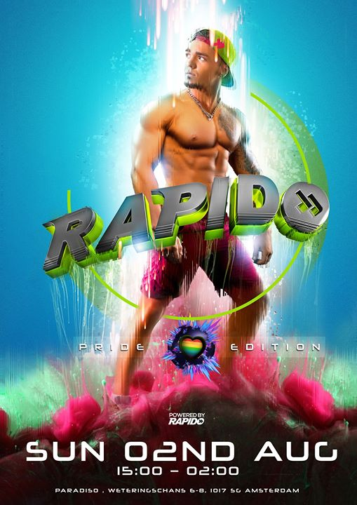 Rapido - the Pride edition in Amsterdam le Sun, August  2, 2020 from 03:00 pm to 02:00 am (Clubbing Gay)