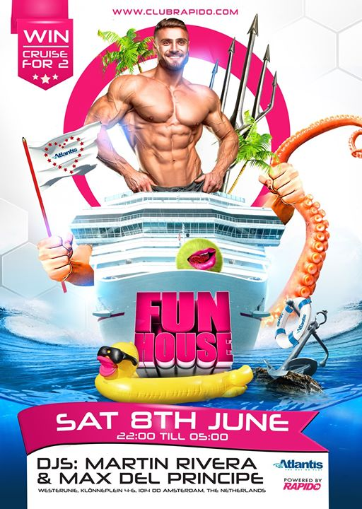 FunHouse - Atlantis Sailors in Amsterdam le Sat, June  8, 2019 from 10:00 pm to 05:00 am (Clubbing Gay)