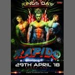 Rapido - King Edition 2018 à Amsterdam le dim. 29 avril 2018 de 15h00 à 02h00 (Clubbing Gay)