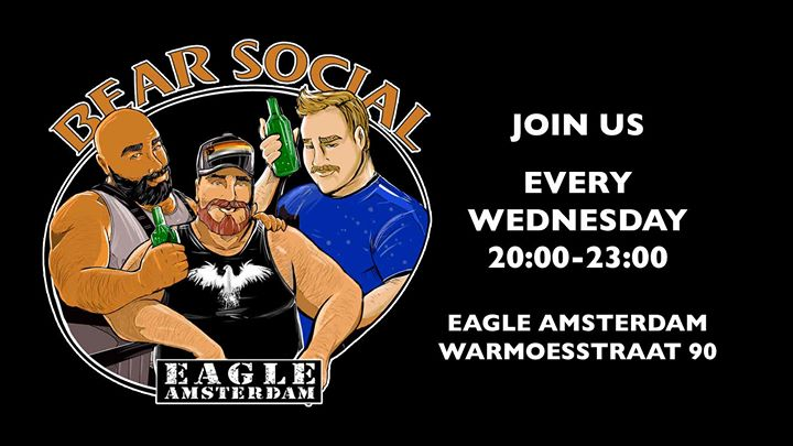Eagle Bear Social em Amsterdam le qua, 19 junho 2019 20:00-23:00 (After-Work Gay, Bear)