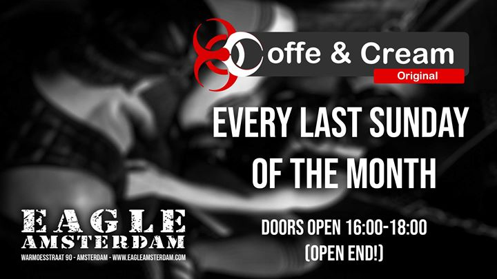 Coffe & Cream in Amsterdam le Sun, March 29, 2020 from 04:00 pm to 08:00 pm (Sex Gay, Bear)