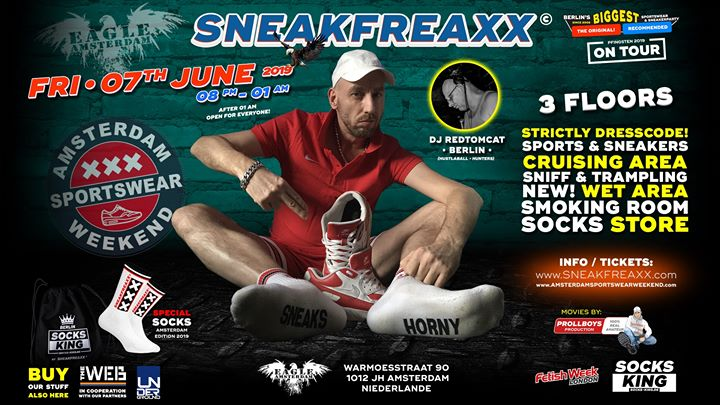 Sneakfreaxx on tour • Eagle Amsterdam • Pfingsten 2019 in Amsterdam le Fri, June  7, 2019 from 08:00 pm to 01:00 am (Sex Gay, Bear)