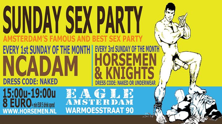 Naked Party em Amsterdam le dom,  4 agosto 2019 15:00-19:00 (Sexo Gay, Bear)