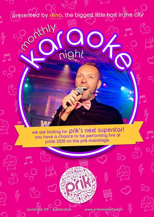 Karaoke in Amsterdam le Sun, March 22, 2020 from 08:00 pm to 01:00 am (After-Work Gay, Bear)