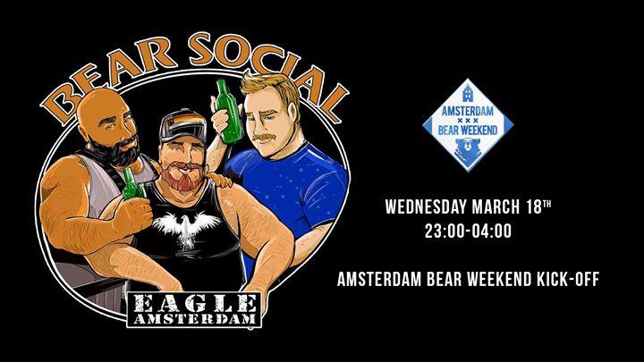 Bear Social at Eagle (ABW2020) en Amsterdam le mié 18 de marzo de 2020 23:00-04:00 (Clubbing Gay, Oso)