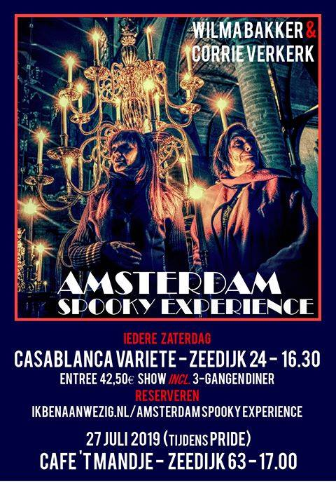 Amsterdam Spooky Experience Café 't Mandje in Amsterdam le Sat, July 27, 2019 from 05:00 pm to 08:00 pm (After-Work Gay, Lesbian)