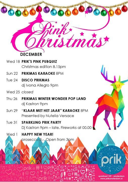 Pink Prikmas & New Year en Amsterdam le jue 26 de diciembre de 2019 16:00-02:00 (Clubbing Gay)