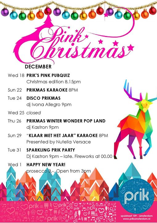 Pink Prikmas & New Year en Amsterdam le mié 18 de diciembre de 2019 20:15-23:15 (Clubbing Gay)
