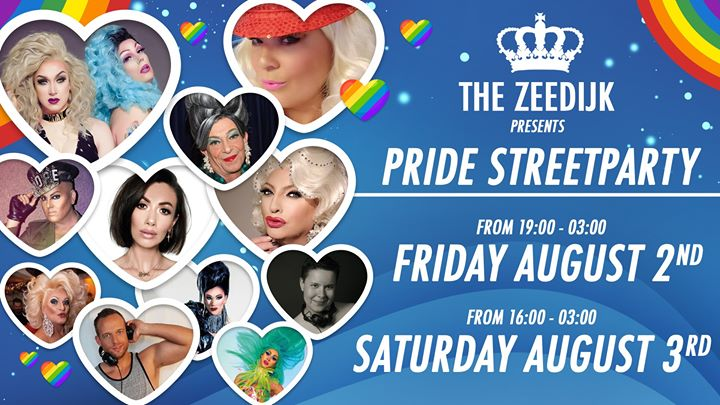 Pride 2019 Streetparty in Amsterdam le Fri, August  2, 2019 from 07:00 pm to 03:00 am (Clubbing Gay, Lesbian)