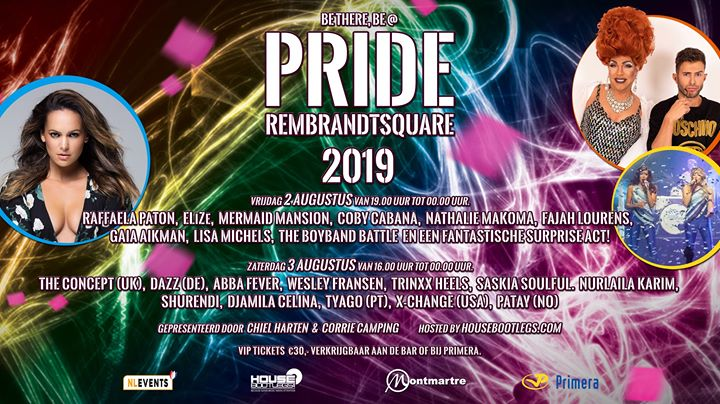 PRIDE Rembrandtplein 2019 in Amsterdam le Fri, August  2, 2019 from 07:00 pm to 12:00 am (After-Work Gay)