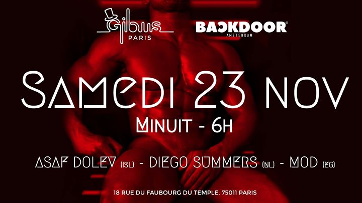 Backdoor Amsterdam at Gibus Club em Paris le sáb, 23 novembro 2019 23:59-06:00 (Clubbing Gay Friendly)