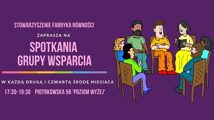 Spotkania Grupy Wsparcia LGBT+ in Lodz le Wed, May 22, 2019 from 05:30 pm to 07:30 pm (Meetings / Discussions Gay, Lesbian, Trans, Bi)