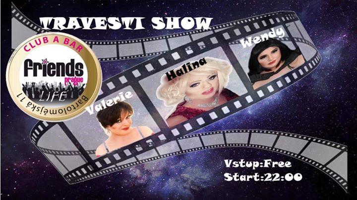 Travesti show Valerie, Halina, Wendy / DJ Kova à Prague le jeu. 29 août 2019 de 18h00 à 06h00 (Spectacle Gay Friendly)