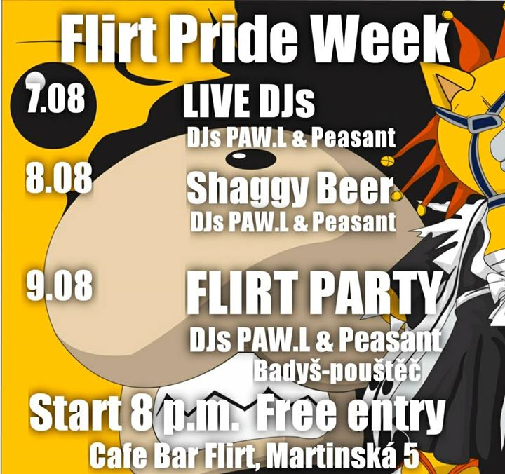 Flirt Party in Prague le Fri, August  9, 2019 from 08:00 pm to 02:30 am (Clubbing Gay Friendly)
