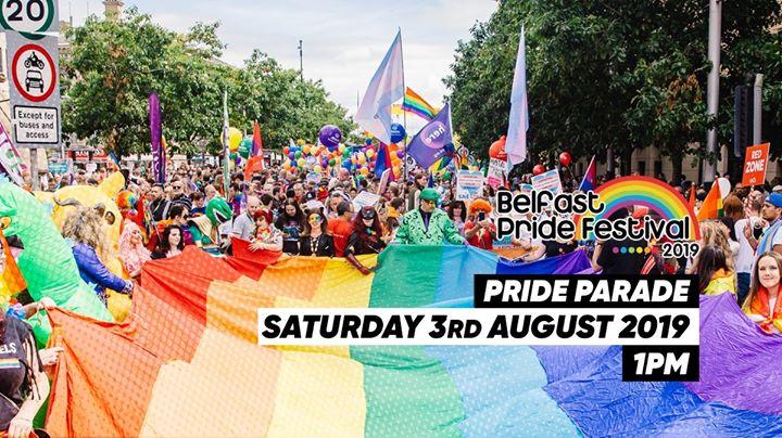 贝尔法斯特The Belfast Pride Parade 20192019年 1月 3日,13:00(男同性恋, 女同性恋, 变性, 双性恋 节日)