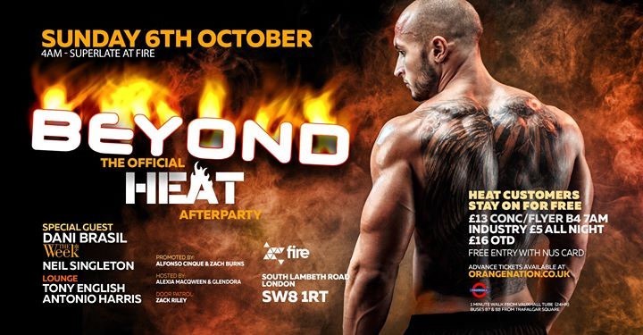 Beyond Afterhours - The Official Heat Afterparty in London le Sun, October  6, 2019 from 04:00 am to 12:00 pm (After Gay)