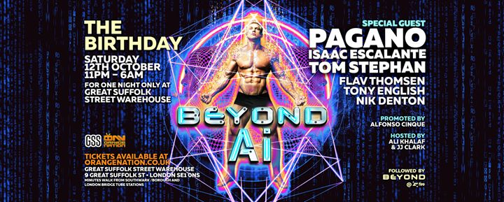 Beyond Ai - The Birthday in London le Sat, October 12, 2019 from 11:00 pm to 06:00 am (Clubbing Gay)