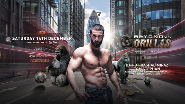 Gorillas vs Beyond in London le Sat, December 14, 2019 from 11:00 pm to 12:00 pm (Clubbing Gay)