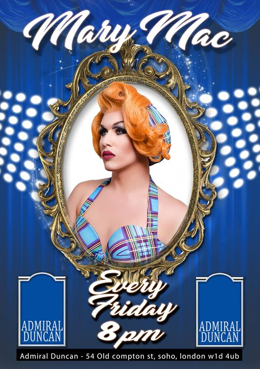 Mary Mac Every Friday night from 8pm à Londres le ven.  9 août 2019 de 20h00 à 00h00 (After-Work Gay)