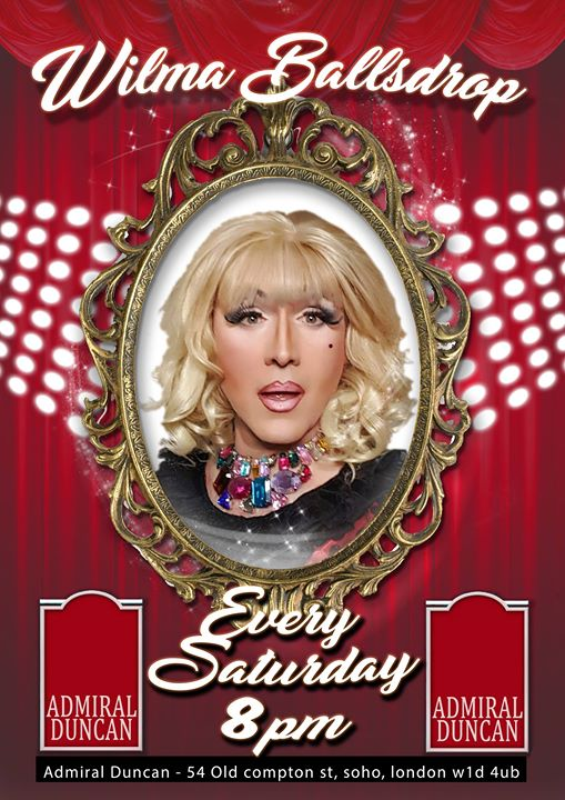 New Resident WILMA Ballsdrop Every Saturday 8pm a Londra le sab  2 novembre 2019 19:30-23:30 (After-work Gay)