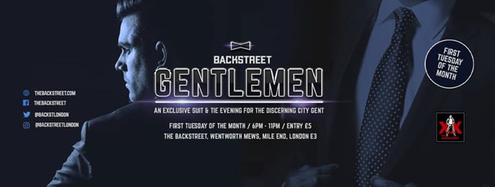 Backstreet Gentlemen - Suit & Tie Evening à Londres le mar.  3 mars 2020 de 18h00 à 23h00 (Sexe Gay)