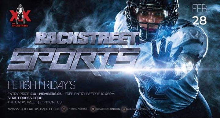 Fetish Friday - Backstreet Sports à Londres le ven. 28 février 2020 de 22h00 à 03h00 (Clubbing Gay)