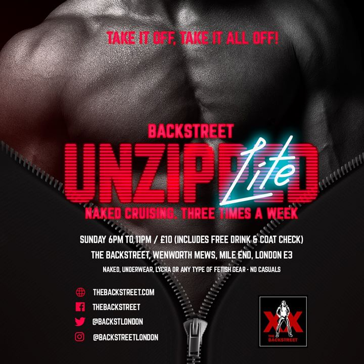 Unzipped Lite - Take It Off, Take It All Off à Londres le dim.  1 mars 2020 de 18h00 à 23h00 (Sexe Gay)