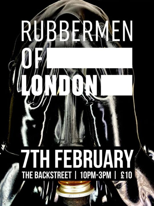Rubbermen of London at Backstreet à Londres le ven.  7 février 2020 de 22h00 à 03h00 (Sexe Gay)
