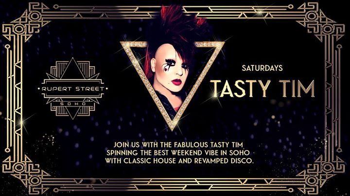 The Legendary DJ Tasty Tim in London le Sat, October 12, 2019 from 09:00 pm to 12:00 am (Show Gay)