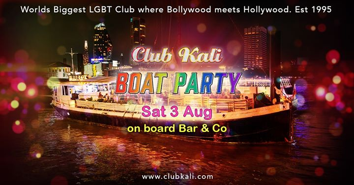 Club Kali BOAT Party - Saturday 3 August 2019 in London le Sat, August  3, 2019 from 10:00 pm to 03:00 am (Cruise Gay, Lesbian)