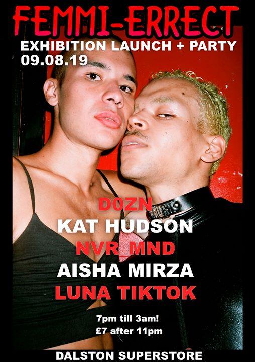Femmi-Errect: Exhibition Launch + Party em Londres le sex,  9 agosto 2019 19:00-03:00 (Clubbing Gay)