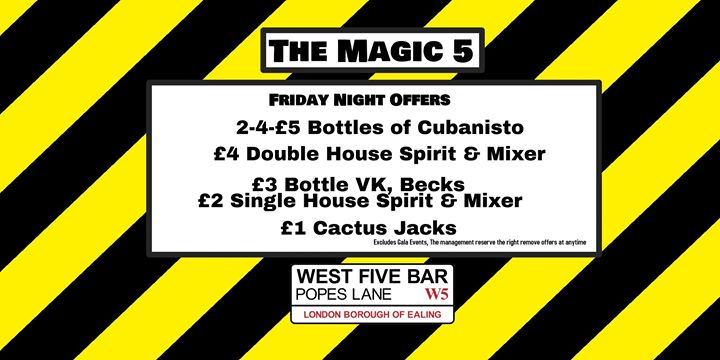The Magic 5 with DJ Steve J en Londres le vie 19 de julio de 2019 19:00-03:00 (Clubbing Gay)