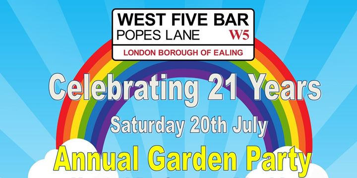 Celebrating 21 Years Of West Five Bar in London le Sat, July 20, 2019 from 03:00 pm to 03:00 am (Clubbing Gay)