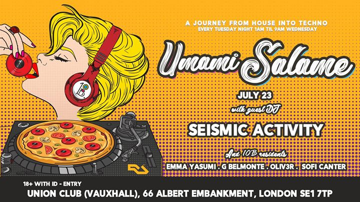 Umami Salame Afterhours in London le Tue, July 23, 2019 from 11:59 pm to 09:00 am (Clubbing Gay)