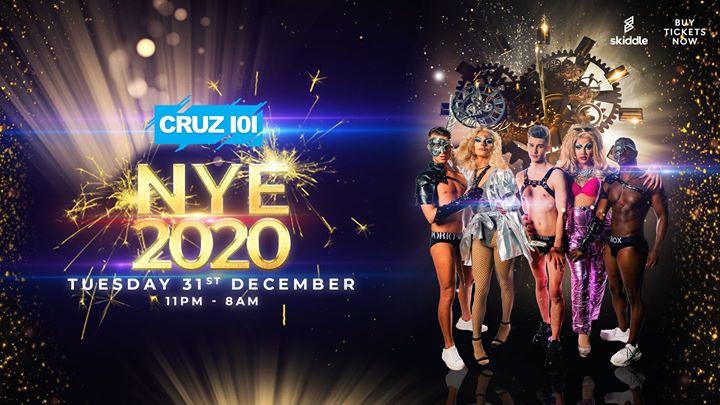 Cruz 101 New Year's Eve 2020 en Manchester le mar 31 de diciembre de 2019 23:00-09:00 (Clubbing Gay)
