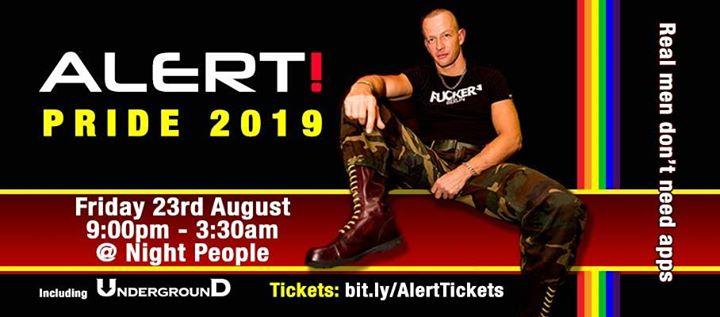 Alert! Pride 2019 en Manchester le vie 23 de agosto de 2019 21:00-03:30 (Clubbing Gay)