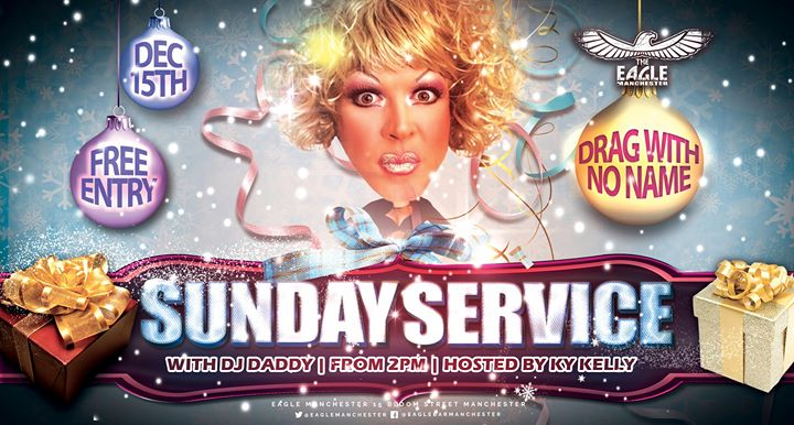 Drag With No Name does Sunday Service em Manchester le dom, 15 dezembro 2019 14:00-20:30 (After-Work Gay)