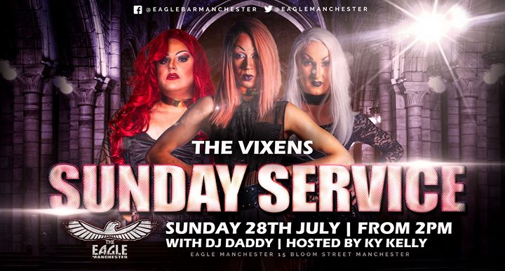 The Vixens do Sunday Service em Manchester le dom, 28 julho 2019 14:00-20:30 (After-Work Gay)