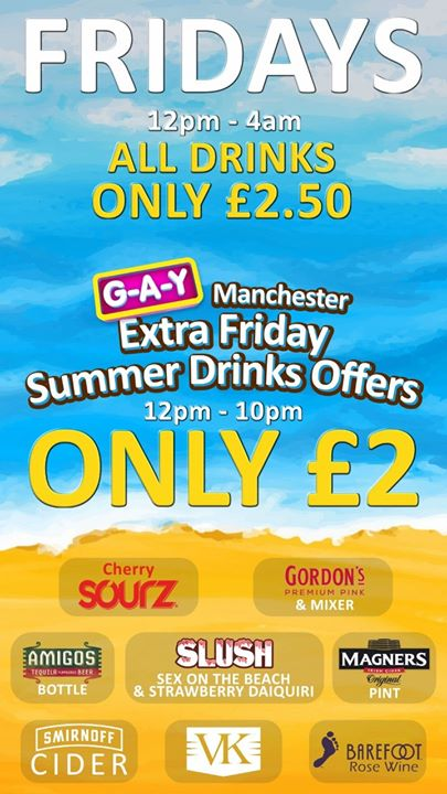 Friday's at G-A-Y Manchester em Manchester le sex, 23 agosto 2019 12:00-04:00 (Clubbing Gay)