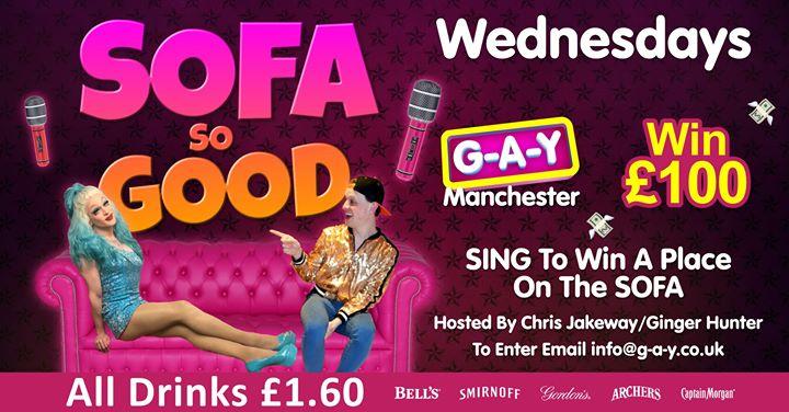 G-A-Y Manchester SoFa So Good em Manchester le qua, 28 agosto 2019 12:00-04:00 (Clubbing Gay)