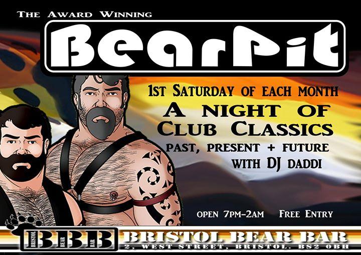 布里斯托尔BearPit2019年 9月 7日,21:00(男同性恋, 熊 俱乐部/夜总会)